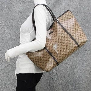 Gucci Large Crystal Coated Canvas Joy Tote